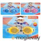 Очки для плавания 55601, Intex, Junior 3-8 лет, 3 цвета, уп.12