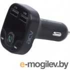 Автомобильный FM-модулятор ACV FMT-120B черный MicroSD BT USB (37574)