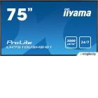 Панель Iiyama 75 LH7510USHB-B1 черный IPS LED 8ms 16:9 DVI HDMI M/M матовая 1200:1 3000cd 178гр/178гр 3840x2160 D-Sub DisplayPort USB 76кг