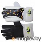 Перчатки вратарские фб NOVUS NFG-02, бел.-черн, размер S