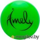 Мяч для художественной гимнастики Amely AGB-301 (19см, зеленый)