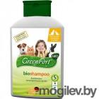 Био Шампунь GreenFort G208 для кошек, кроликов и собак 380ml 17765