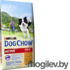Dog Chow Active с курицей полнорационный (14 кг)