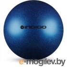 Мяч для художественной гимнастики Indigo IN118 (синий с блестками)
