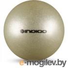 Мяч для художественной гимнастики Indigo IN118 (серебряный с блестками)
