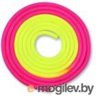 Скакалка для художественной гимнастики Indigo IN041 (3м, желтый/розовый)