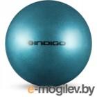 Мяч для художественной гимнастики Indigo IN118 (голубой с блестками)