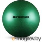 Мяч для художественной гимнастики Indigo IN118 (зеленый с блетками)