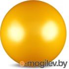 Мяч для художественной гимнастики No Brand Металлик AB2803 (желтый)