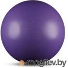 Мяч для художественной гимнастики No Brand Металлик AB2803B (сиреневый с блестками)