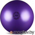 Мяч для художественной гимнастики No Brand Металлик AB2801 (фиолетовый)