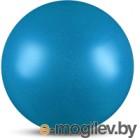 Мяч для художественной гимнастики No Brand Металлик AB2803B (голубой с блестками)