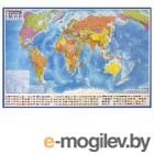 Карта мира политическая Brauberg 1010х700mm 112382