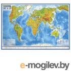 Карта мира физическая Brauberg 1010х660mm 112377