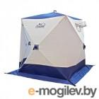 Палатка зимняя куб СЛЕДОПЫТ 1,5 х1,5 м, Oxford 210D PU 1000, 2-местная, цв. бело-синий