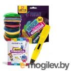 Funtasy One + PLA-пластик 17 цветов и книжка с трафаретами 3-1-FP001A-Y-PLA-17-SB