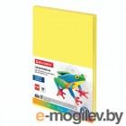 Цветная бумага Brauberg А4 100 листов Yellow 112454