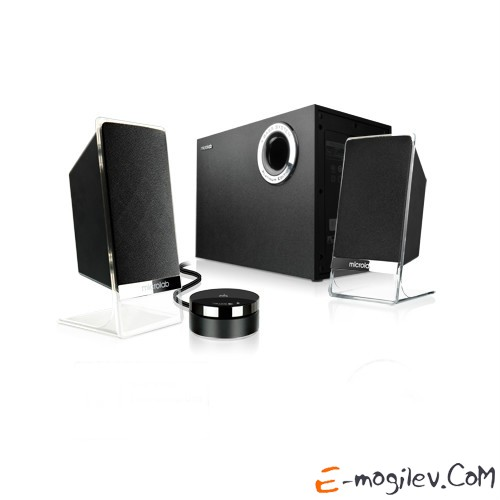 MICROLAB M 200BT Platinum (2.1) черные, Bluetooth, 26+2х12W