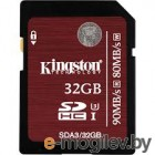 Kingston 32Gb SDHC (SDA3/32GB) Class 10 UHS-I U3 R90 - W80 Mb/s RTL
