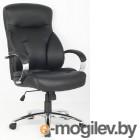 COLLEGE H-9582L-1K Черный экокожа, 120 кг, подлокотники кожа/хром, крестовина хр