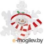 501-021 Фигура светодиодная на присоске Снежинка со снеговиком, RGB NEON-NIGHT