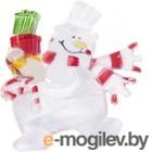 501-022 Фигура светодиодная на присоске Снеговик с подарком, RGB NEON-NIGHT