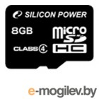 Silicon Power microSDHC 8Gb Class4 SP008GBSTH004V10