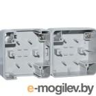 Корпус двухместный для горизонтального монтажа SE-72002 серый