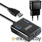 USB-хаб Ginzzu GR-384UAB