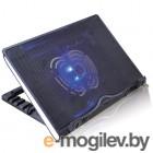 Подставка охлаждающая Crown CMLS-925 черная, до 17, голубая подсветка, 2*USB
