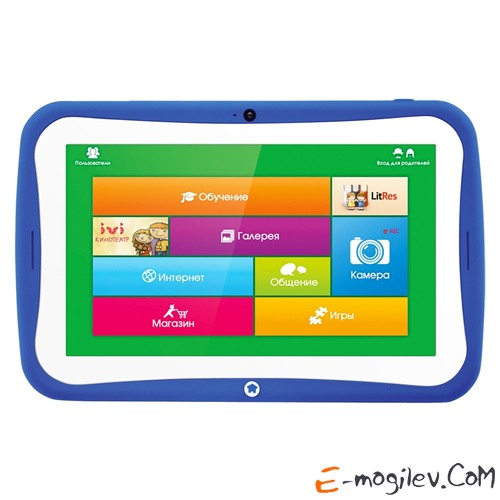 TurboKids Star | RK3026 1000 MHz | 7 1024x600 | 512Mb | 8Gb | WiFi | CAM | Android 4.2 | Blue