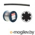 Трос стальной в ПВХ SWR M3 PVC M4 DIN 3055 (бухта/200м) (SMP-53714-200) (STARFIX)