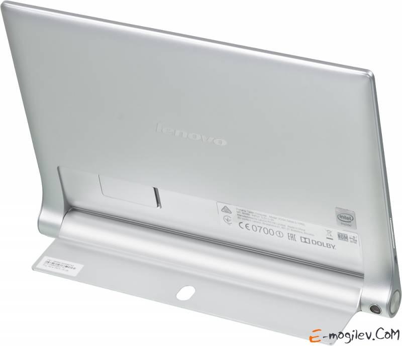 "Lenovo Yoga Tablet 1050 Atom Z3745 (1.86) 4C/RAM2Gb/ROM32Gb 10.1"" IPS 1920x1200/3G/4G/WiFi/BT/8Mpix/1.6Mpix/GPS/Android 4.4/Silver/Touch/microSDHC 64Gb/EDGE/minUSB/9600mAh/18hr"