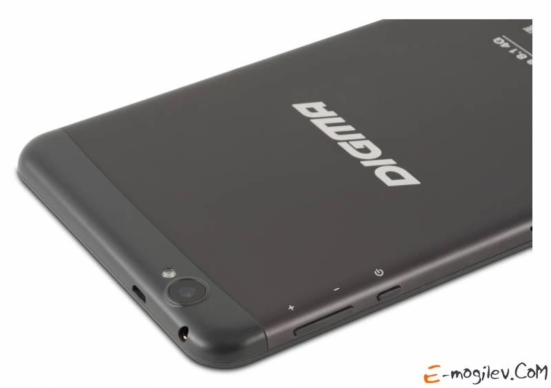 "Планшет Digma Platina 8.1 4G MSM8926 (1.4) 4C/RAM1Gb/ROM16Gb 8"" IPS 1280x800/3G/4G/WiFi/BT/2Mpix/0.3Mpix/GPS/Android 4.4/Black/Grey /Touch/microSDHC 32Gb/minUSB/3900mAh"