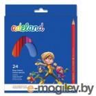 Карандаши цветные Adel ADELAND 211-2365-100 3мм 24 цвета коробка/европодвес