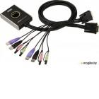 KVM ATEN (CS682-AT) KVM+Audio, 1 user USB+DVI-D => 2 cpu USB+DVI-D, со встр.шнурами US