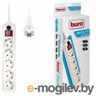 Сетевой фильтр Buro 5 розеток, белый, 10 м [500SH-10-W]