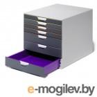 Бокс Durable 7607-27 с 7ю цветными выдвижными ящиками 28x29x35см