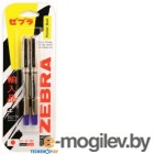 Zebra ZEB-ROLLER BE-& AX7 0,7мм стреловидный пиш. наконечник синий/синий блистер (2шт)