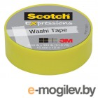 3M C314-GRN2 Scotch Washi, 15мм x 10м, лимон (7100024029)