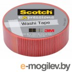 3M C314-P22 Scotch Washi, 15мм x 10м, полоски (7000048138)