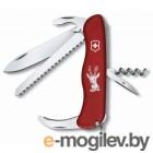 Нож перочинный Victorinox Hunter 0.8873 с фиксатором лезвия 13 функций красный