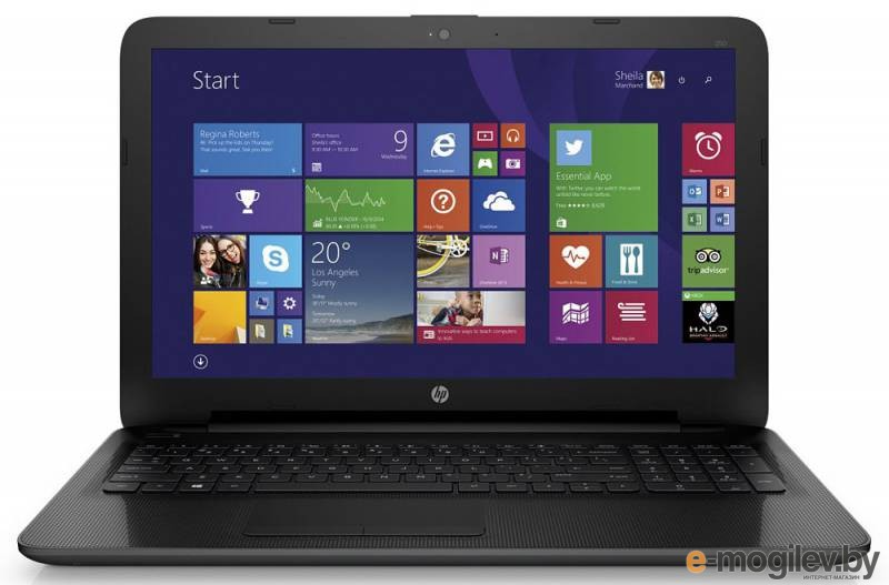 "HP 250 Core i3 4005U/8Gb/1Tb/DVD-RW/Intel HD Graphics 4400/15.6""/SVA/HD (1366x768)/Windows 8.1 Professional 64/black/WiFi/BT/Cam"