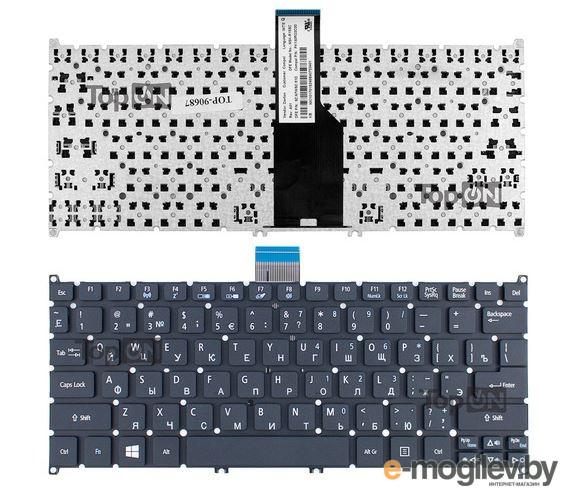 Клавиатура для ноутбука Acer Aspire One  756, 725, S3, S5 черная