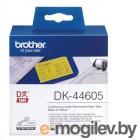 Лента DK44605 жёлтая неразрезанная отделяемая бумажная для наклеек 62мм