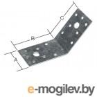 Уголок крепежный под 135 градусов 40х90x90 мм KUS белый цинк STARFIX (Толщина 2 мм)