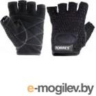 Перчатки для пауэрлифтинга Torres PL6045XL (XL, черный)