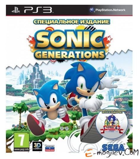 Игра Sony PlayStation 3 Sonic Generations. Специальное издание (3D) рус док (30856)