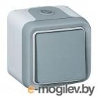 Plexo Переключатель 10A, серый Plexo Переключатель 10A, серый