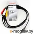 Telecom TAV4545-1.5M 3.5 Jack (M)/3 RCA (M)